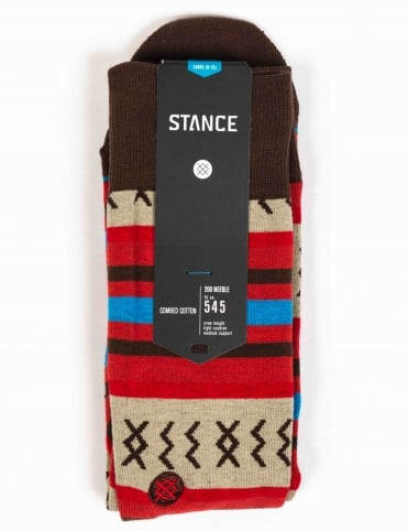 Stance Socks Mexicali Rose Socks - Red