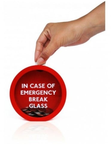 Suck UK Emergency Money Box Break Glass