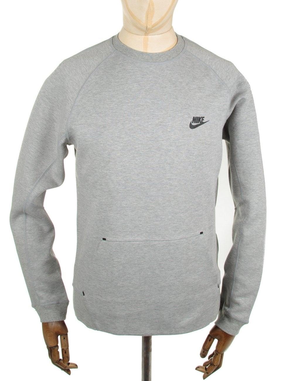 8f57bf78 Nike Tech Fleece Crewneck Sweat - Grey - Sweats from Fat Buddha Store UK
