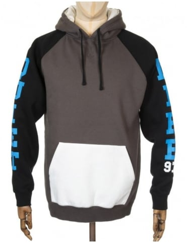 The Quiet Life Climber Hooded Sweat - Charcoal/White