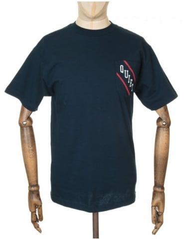 The Quiet Life Diagonal Pocket T-shirt - Navy