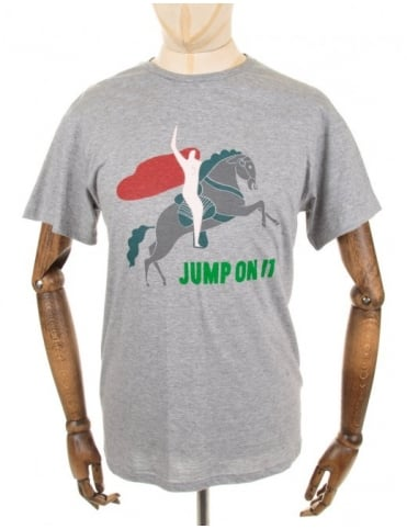 The Quiet Life Jump On It Tee - Heather Grey