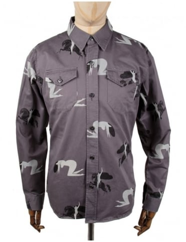 The Quiet Life Katsuo Workshirt - Charcoal
