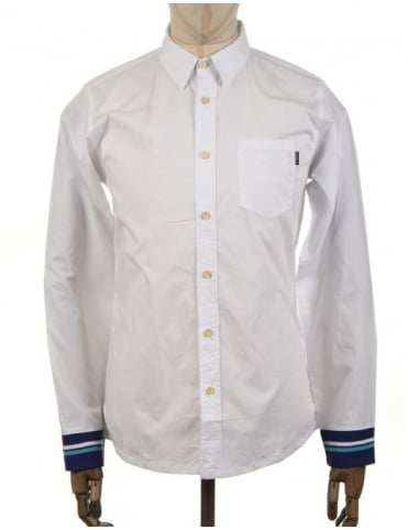 The Quiet Life L/S Rib Cuff Shirt - White