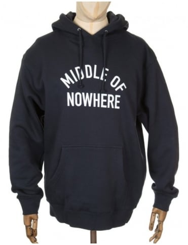 The Quiet Life Middle of Nowhere Hooded Sweat - Navy