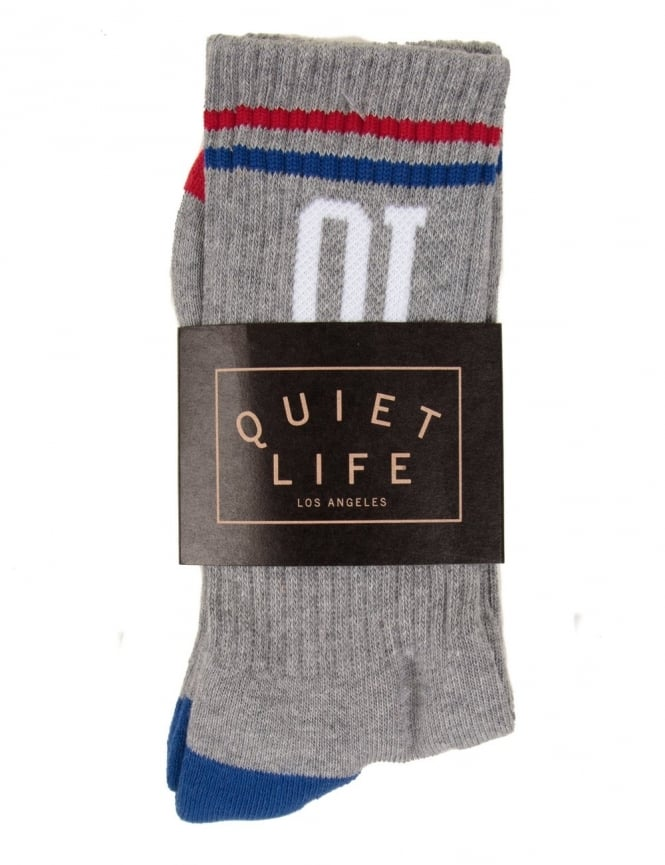 The Quiet Life QL Athletic Sock - Heather Grey