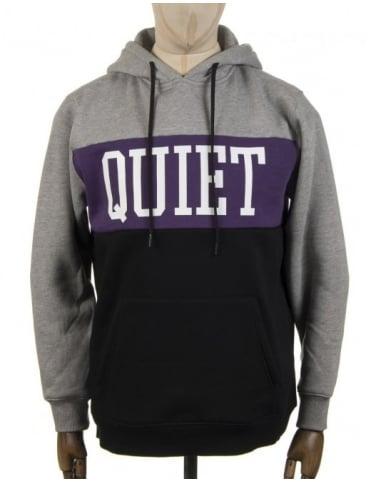 The Quiet Life Quiet Hooded Sweat - Grey/Purple