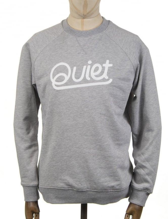 The Quiet Life Script Chainstitch Sweatshirt - Heather Grey