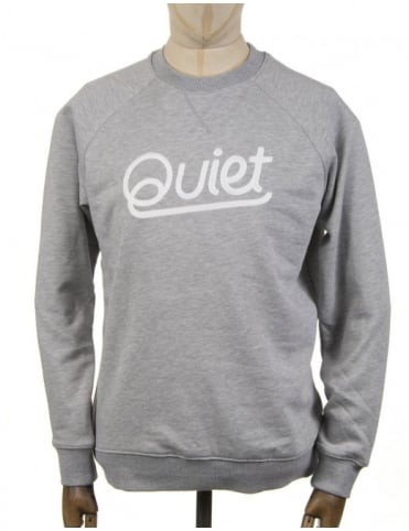 The Quiet Life Script Chainstitch Sweatshirt - Heather Grey