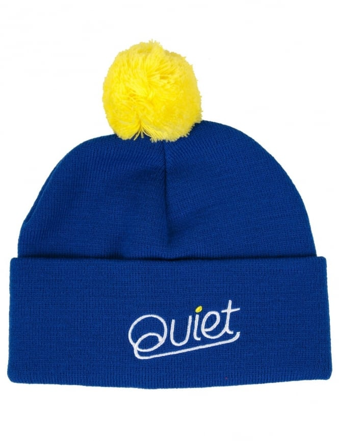The Quiet Life Script Pom Beanie - Blue