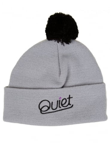 The Quiet Life Script Pom Beanie - Grey