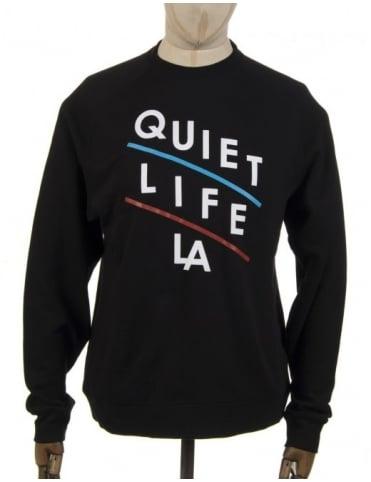 The Quiet Life Slant Logo Sweatshirt - Black