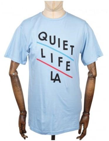 The Quiet Life Slant T-shirt - Light Blue