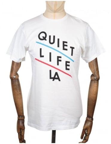 The Quiet Life Slant T-shirt - White
