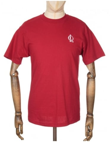 The Quiet Life Sporty Logo Emroidered T-shirt - Cardinal Red