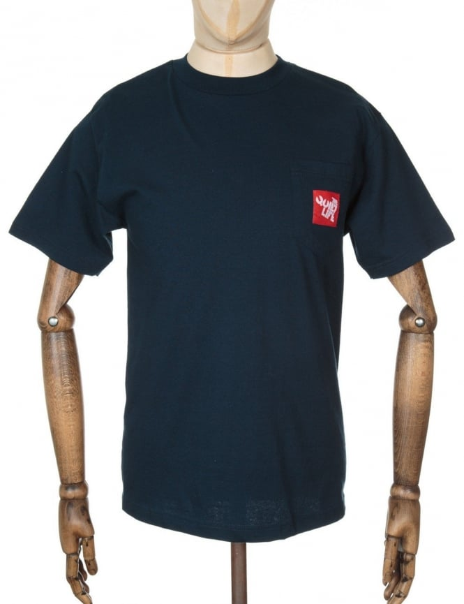 The Quiet Life Woven Label Pocket T-shirt - Navy