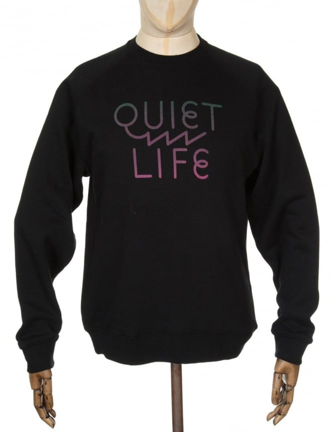 The Quiet Life Zig Zag Sweatshirt - Black
