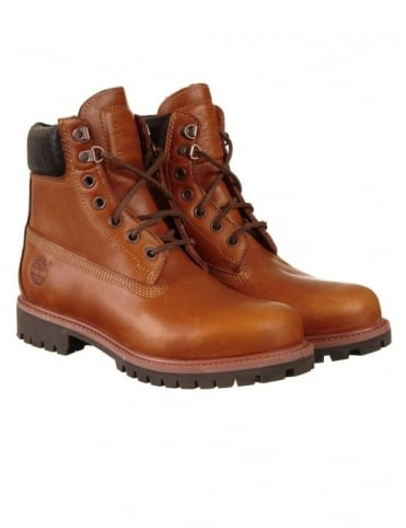 6-inch Premium Boot - Claypot Brown with Woven Collar