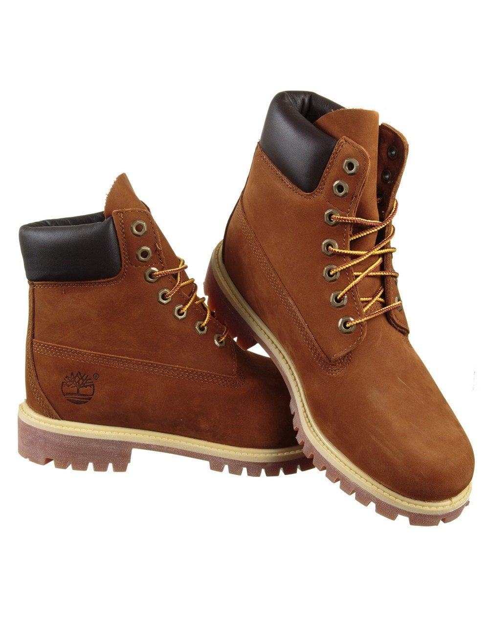 Timberland 6-inch Premium Waterproof Boot - Rust Orange - Shoes ... 068b34e0a