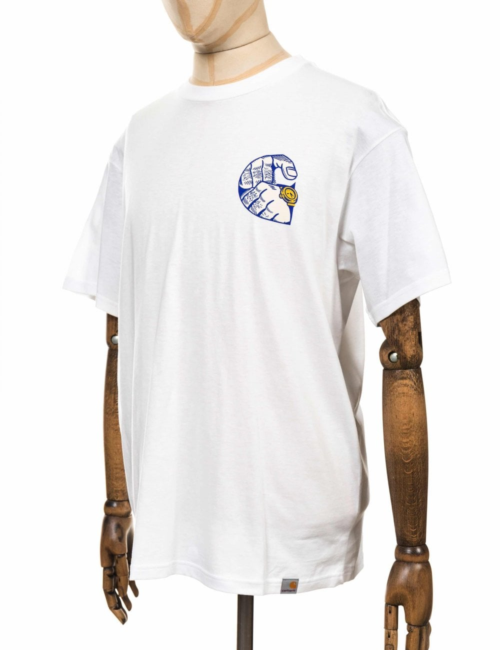 White Carhartt WIP Time Is Up Tee
