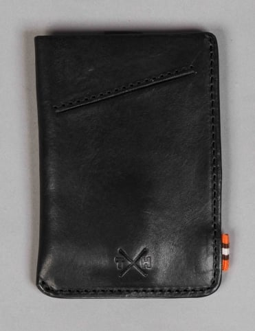 Chukka Leather Adept Card Holder - Black