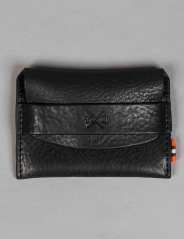 Tumble & Hide Chukka Leather Card Pouch - Black