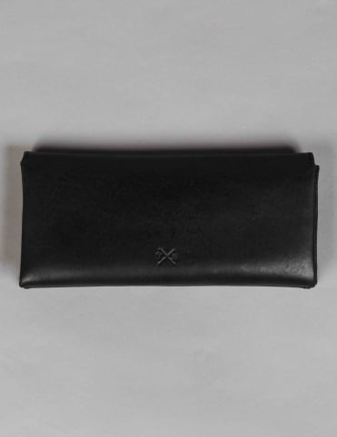 Tumble & Hide Chukka Leather Contemporary Wallet - Black