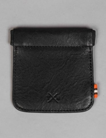 Tumble & Hide Chukka Leather Snap Top Coin Pouch - Black