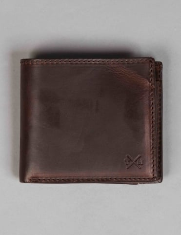 Horween Leather Coin Pkt Wallet - Brown