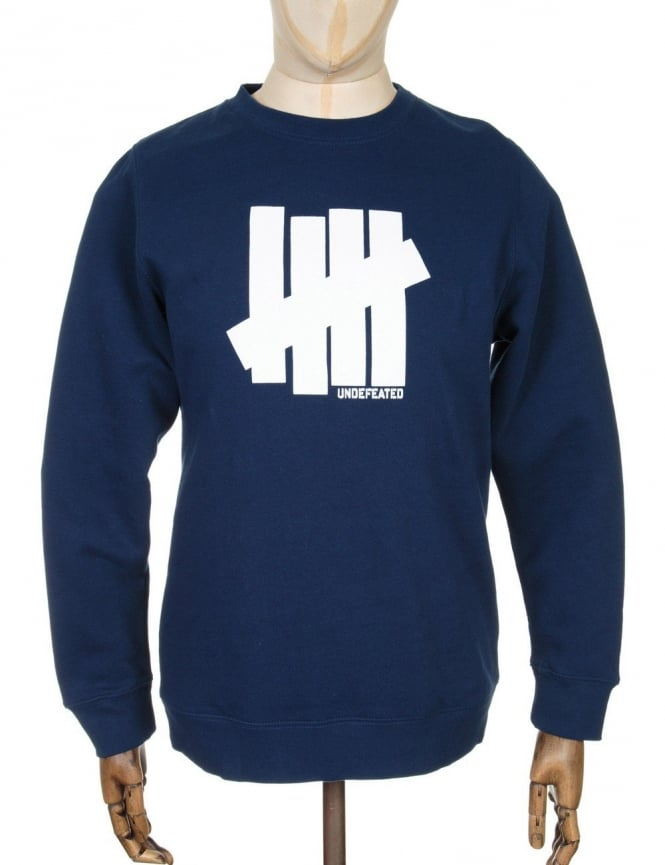 Undefeated 5 Strike Sweatshirt - Navy Blue