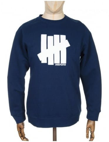 Undefeated 5 Strike Sweatshirt - Navy Blue