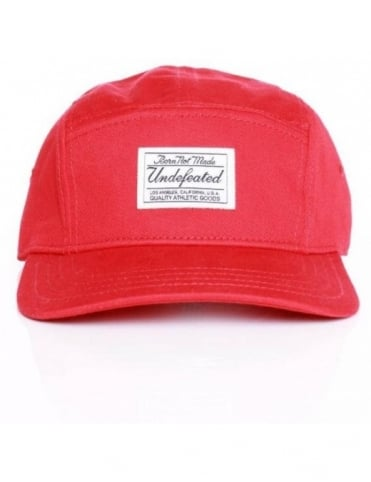 B.N.M. Camp 5 Panel Hat - Red