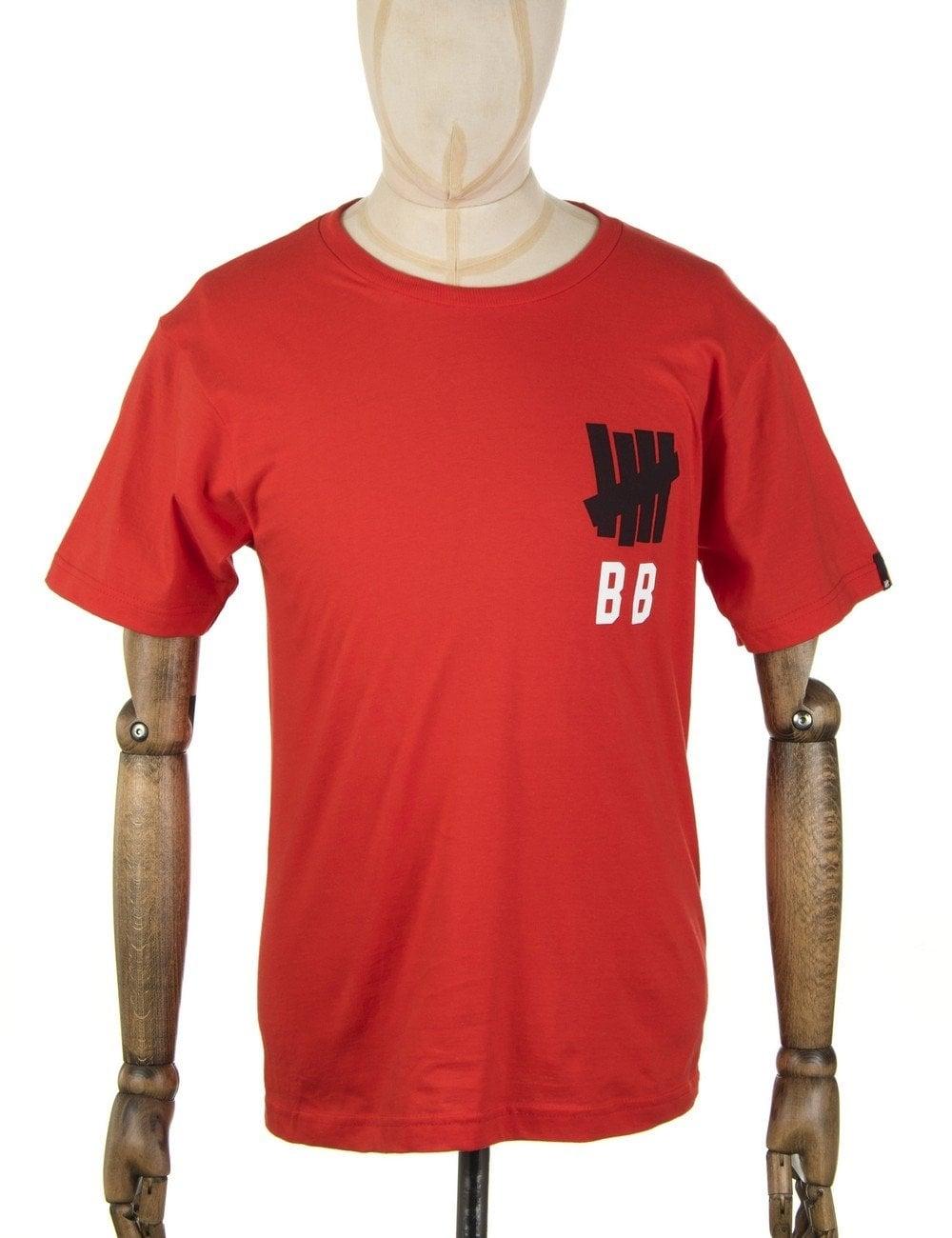 Undefeated Bat Boy T Shirt Red