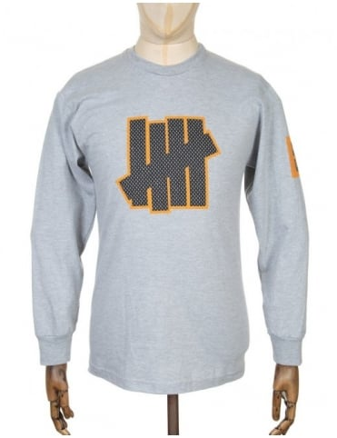 Undefeated L/S 5 Strike T-shirt - Heather Grey
