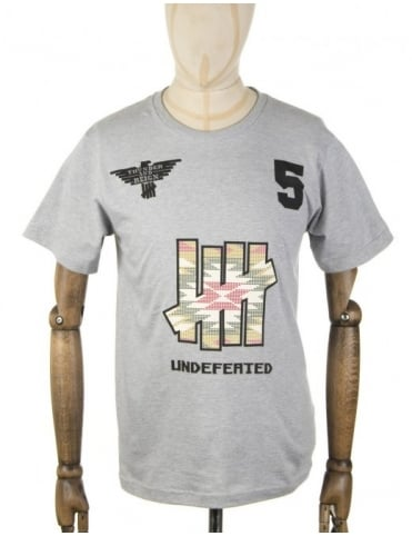 Undefeated Plains T-shirt - Heather Grey