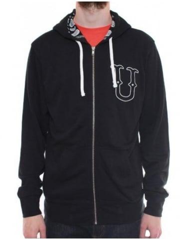 Undefeated U & D 5 Zip Hoodie - Black