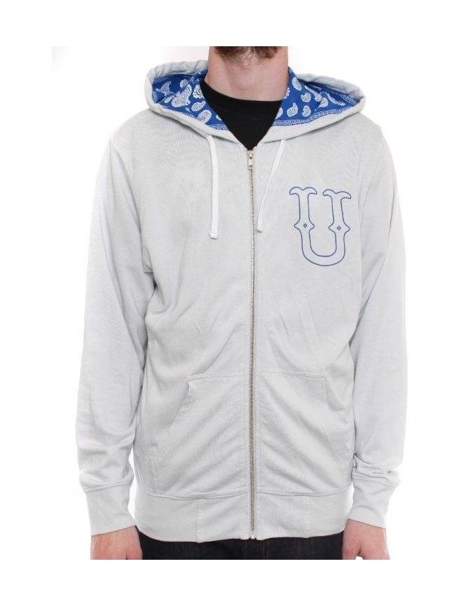 Undefeated U & D 5 Zip Hoodie - Grey