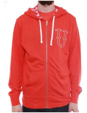 Undefeated U & D 5 Zip Hoodie - Red