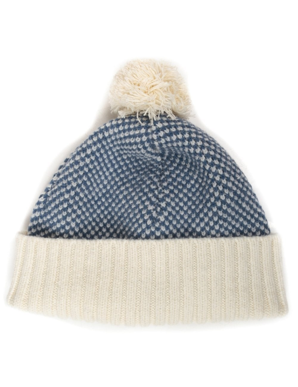 Universal Works Bobble Hat - Navy - Accessories from Fat Buddha Store UK b5112cfe826