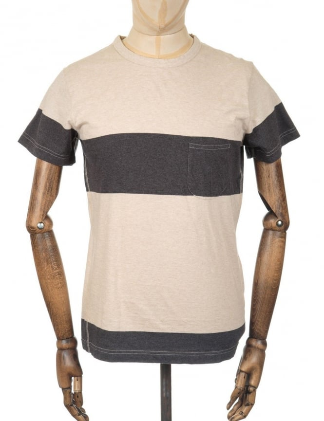 Universal Works Panel Pocket T-shirt - Sand