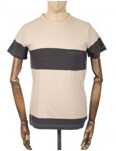Universal Works Panel Pocket T-shirt - Sand