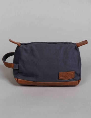 Canvas Washbag - Blue