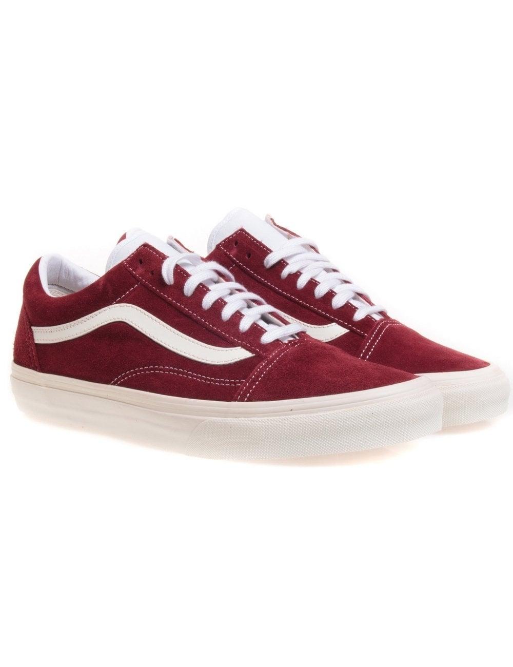 vans old skool vintage rio red skate shoe