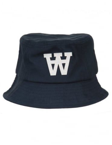 Wood Wood AA Bucket Hat - Navy Blue