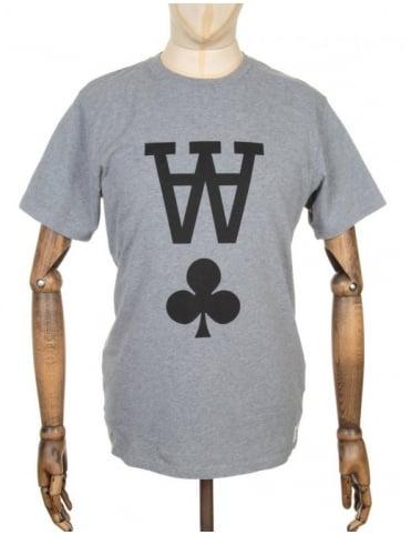 Wood Wood AA Logo T-shirt - Heather Grey