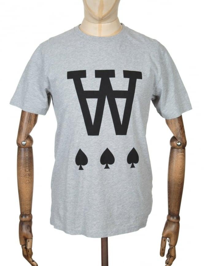 Wood Wood AA Spades T-shirt - Heather Grey