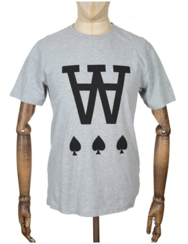 Wood Wood AA Spades T-shirt - Heather Grey