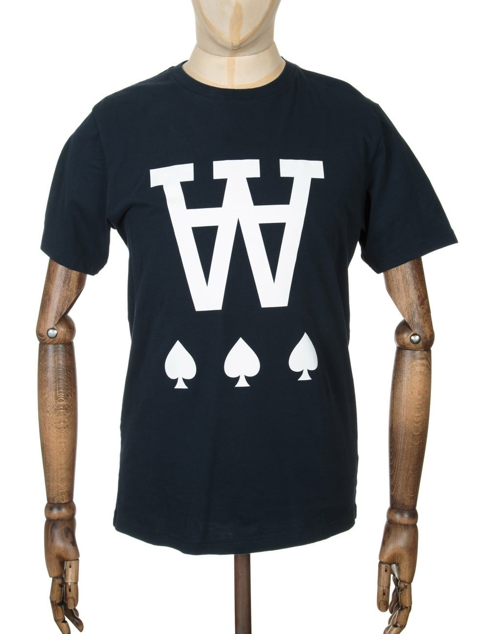 Wood Wood Aa Spades T Shirt Total Eclipse Clothing From Fat