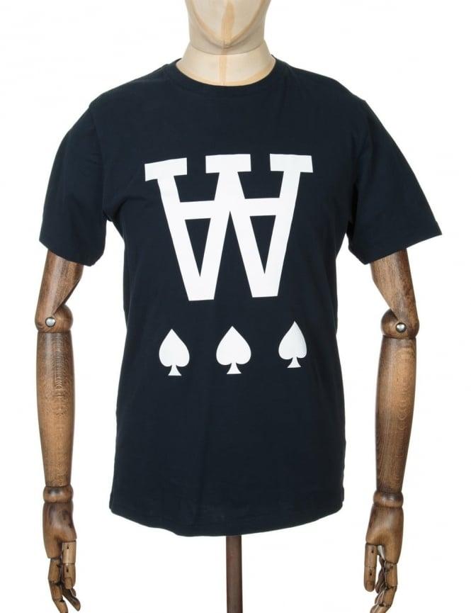 Wood Wood AA Spades T-shirt - Total Eclipse