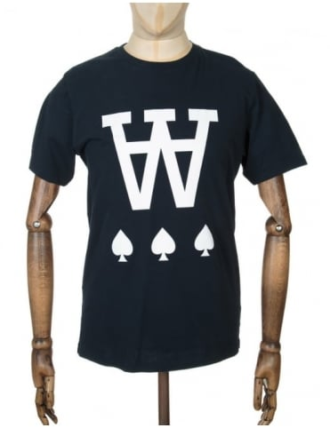 Wood Wood AA Spades T-shirt - Total Eclipse